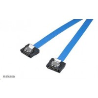 AKASA Kabel  Super slim SATA3 datový kabel k HDD,SSD a optickým mechanikám, modrý, 15cm