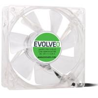 Tichý LED ventilátor pro zlepšení proudění vzduchu uvnitř počítačové skříně. Instalace ventilátoru pomáhá v chlazení pr