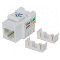 Intellinet Cat5e Keystone Jack, UTP, biely, Punch-down