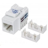 Intellinet Cat6 Keystone Jack, UTP, biely, Punch-down