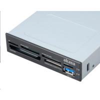"""AKASA Čtečka karet AK-ICR-07U3 do 3,5"""", 6-slotová, 1x USB 3.0"""