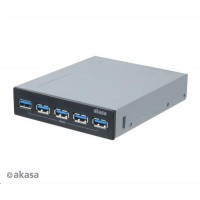 "AKASA HUB USB InterConnect Pro 5S, do 3,5"" pozice, 5x USB 3.0"