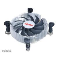 AKASA Chladič CPU AK-CC7122BP01 pro Intel  LGA 775 a 115x, 75mm PWM ventilátor, pro mini ITX a micro ATX skříně