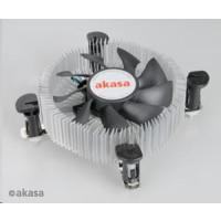 AKASA Chladič CPU AK-CCE-7106HP pro Intel  LGA 775 a 115x, 75mm PWM ventilátor, pro mini ITX a micro ATX skříně