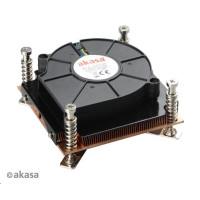 AKASA Chladič CPU AK-CCE-7107BP pro Intel  LGA 775 a 115x, měděné jádro, 80mm PWM ventilátor, pro 1U skříně