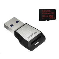 Sandisk Extreme Pro microSDXC 128 GB 275 MB/s Class 10 UHS-II U3 + USB 3.0 čtečka