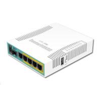 MikroTik RouterBOARD hEX PoE, 800MHz CPU, 128MB RAM, 5xGLAN, USB, PoE 802.3at, USB, SFP,  vč. L4