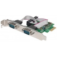 MANHATTAN Serial PCI Express Card, Two DB9 ports