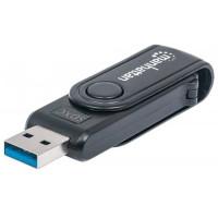 MANHATTAN Čtečka paměťových karet Mini, 24 v 1, USB 3.0, černá, externí