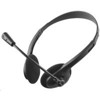 TRUST sluchátka s mikrofonem Primo Chat Headset, pro PC/laptop