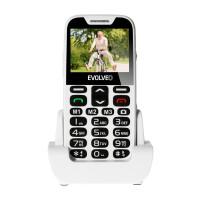 EVOLVEO EasyPhone XD, mobilní telefon pro seniory s nabíjecím stojánkem (bílá barva)