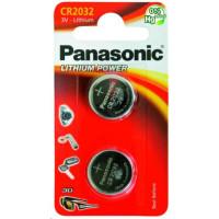 PANASONIC Mincové (knoflíkové) baterie - lithiové CR-2032EL/2B  3V 2ks