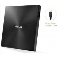 ASUS DVD ZenDrive SDRW-08U9M-U BLACK, External Slim DVD-RW, USB Type-C/Type-A, M-DISC