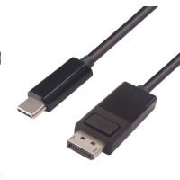PremiumCord Převodník kabel 2m USB3.1 na DisplayPort, rozlišení 4K*2K@30Hz