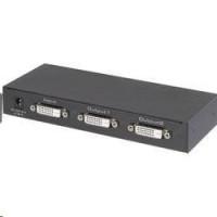CONRAD DVI rozbočovač Renkforce UHD, 2 porty, černá