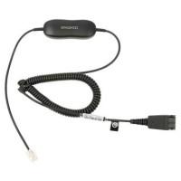 Jabra GN 1200, kabel QD -> RJ10, kroucený, 0,7 - 2 m