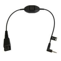 Jabra kabel QD -> 2,5 mm jack, 30 cm rovný s tlačítkem
