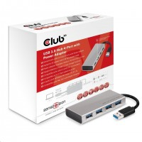 Club3D USB 3.0 Hub 4 porty s napájecím adaptérem