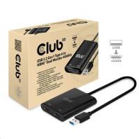 Club3D Adaptér USB A na 2xHDMI 2.0 Dual Monitor 4K 60Hz (M/F)