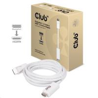 Club3D Kabel DisplayPort 1.2 na HDMI 2.0, 4K 60HZ UHD, 3m