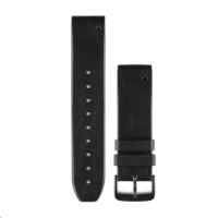 Garmin řemínek pro Approach S60/fenix5/Quatix5/Forerunner 935 - QuickFit 22, kožený, černý