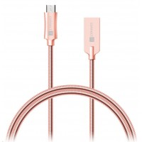 CONNECT IT Wirez Steel Knight Micro USB - USB, metallic rose-gold, 1 m