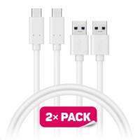 CONNECT IT Wirez USB-C (Type C) -> USB-A, USB 3.1 Gen 1, bílý, 1 m (2 ks v balení)