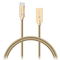 CONNECT IT Wirez Steel Knight USB-C (Type C) - USB-A, metallic gold, 1 m