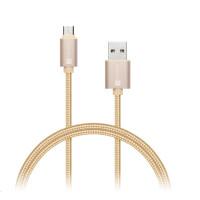 CONNECT IT Wirez Premium Metallic micro USB - USB, gold, 1m
