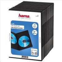 Hama DVD slimbox double, 25 ks, čierny