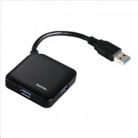 Hama USB 3.0 Hub 1:4, čierny