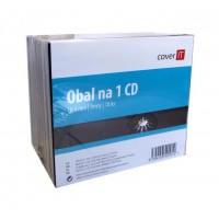 COVER IT Krabička na 1 CD 10mm jewel box + tray 10ks/bal